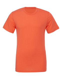 Canvas Unisex Jersey Crew Neck T-Shirt Coral XS