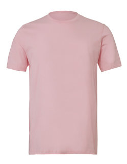 Canvas Unisex Jersey Crew Neck T-Shirt Soft Pink XS