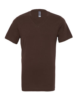 Canvas Jersey V-Neck T-Shirt Brown S