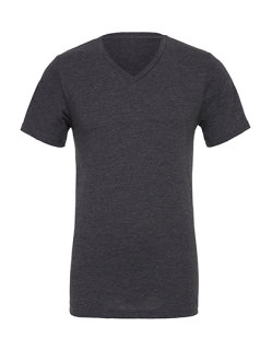 Canvas Jersey V-Neck T-Shirt Dark Grey Heather XL