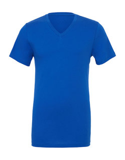 Canvas Jersey V-Neck T-Shirt True Royal M