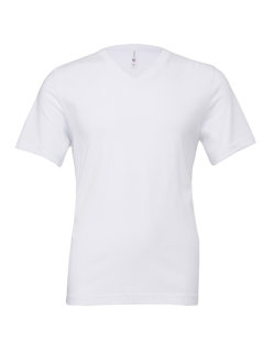 Canvas Jersey V-Neck T-Shirt White M