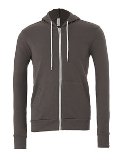 Canvas Unisex Zip-Up Poly-Cotton Fleece Kapuzensweat Asphalt (Solid) XXL