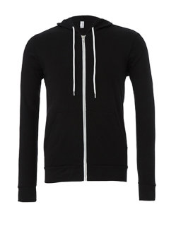 Canvas Unisex Zip-Up Poly-Cotton Fleece Kapuzensweat Black M