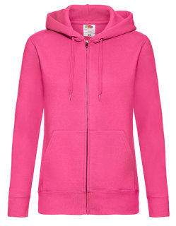 Fruit of the Loom Premium Kapuzensweatjacke Frauen Fuchsia XL