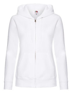 Fruit of the Loom Premium Kapuzensweatjacke Frauen White S