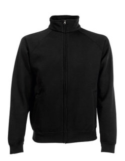 Fruit of the Loom Classic Sweat Jacke Black XL