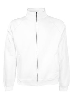 Fruit of the Loom Classic Sweat Jacke White L