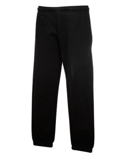 Fruit of the Loom Premium Elasticated Cuff Jogginghose Kinder Black 140