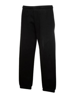 Fruit of the Loom Classic Elasticated Cuff Jogginghose Kinder Black 116