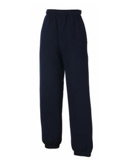 Fruit of the Loom Classic Elasticated Cuff Jogginghose Kinder Deep Navy 116