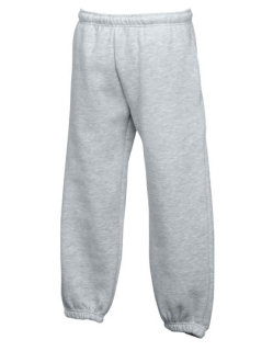 Fruit of the Loom Classic Elasticated Cuff Jogginghose Kinder Heather Grey 140