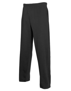 Fruit of the Loom leichte Open Hem Jogginghose Black L