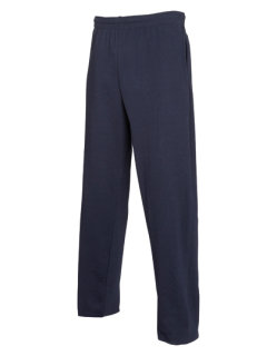 Fruit of the Loom leichte Open Hem Jogginghose Deep Navy XL