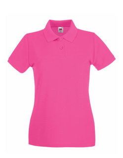 Fruit of the Loom Premium Polo Frauen Fuchsia M