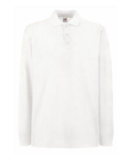 Fruit of the Loom Premium langarm Polo White XXL