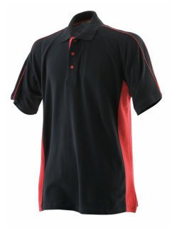 Finden+Hales Sports Polo Black/Red M