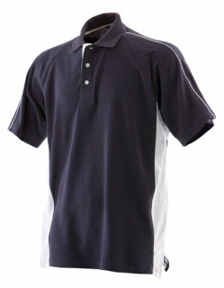 Finden+Hales Sports Polo Navy/White S