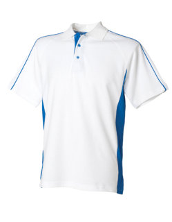 Finden+Hales Sports Polo White/Royal 3XL