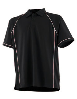 Finden+Hales Piped Performance Polo Black/White S