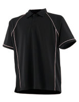 Finden+Hales Piped Performance Polo Black/White L