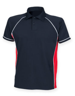 Finden+Hales Piped Performance Polo Navy/Red/White/ M
