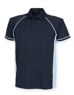Finden+Hales Piped Performance Polo Navy/Sky/White/ L