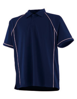 Finden+Hales Piped Performance Polo Navy/White S