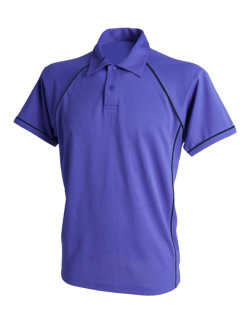Finden+Hales Piped Performance Polo Purple/Navy L