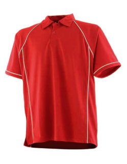 Finden+Hales Piped Performance Polo Red/White S