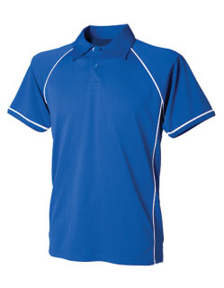 Finden+Hales Piped Performance Polo Royal/White XXL