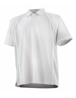 Finden+Hales Piped Performance Polo White/White M