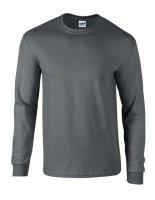 Gildan Ultra Cotton? langarm T- Shirt Charcoal (Solid) S