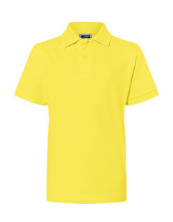 James+Nicholson Classic Kinder Polo Yellow L (134/140)
