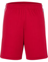 James+Nicholson Basic Team Shorts Red/White XL