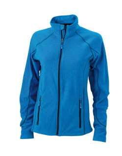 James+Nicholson Frauen Structure Fleece Jacke Aqua/Navy S