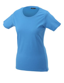 James+Nicholson Frauen Basic-Tshirt Aqua 3XL