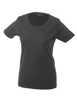 James+Nicholson Frauen Basic-Tshirt Graphite (Solid) L