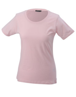 James+Nicholson Frauen Basic-Tshirt Rose M