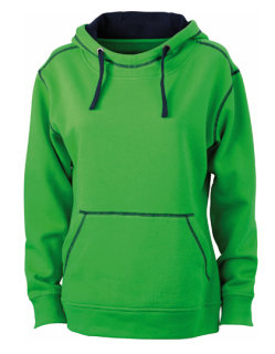 James+Nicholson Frauen Lifestyle Hoody Green/Navy S