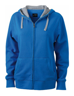 James+Nicholson Frauen Lifestyle Zip-Hoody Cobalt/Grey Heather S