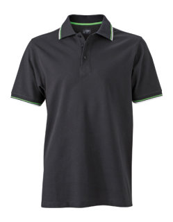 James+Nicholson Männer Coldblack® Polo Black/White/Lime Green/ S