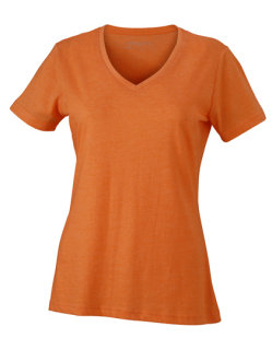 James+Nicholson Frauen Heather T-Shirt Orange Melange S