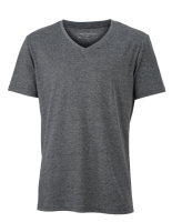 James+Nicholson Männer Heather T-Shirt Black Melange 3XL