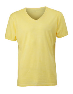 James+Nicholson Männer Gipsy T-Shirt Light Yellow XL
