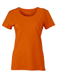 James+Nicholson Frauen Urban T-Shirt Orange/Navy XL
