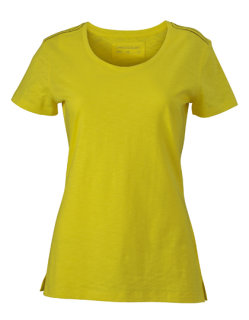 James+Nicholson Frauen Urban T-Shirt Yellow/Navy XL