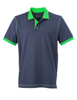 James+Nicholson Männer Urban Polo Navy/Fern Green 3XL