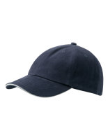 myrtle beach 6-Panel Raver Sandwich Cap Navy/White One Size