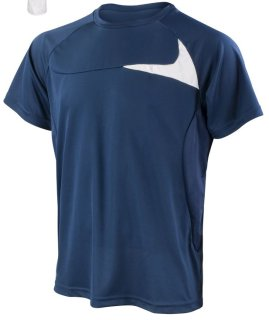 SPIRO Männer Dash Training Shirt Navy/White S